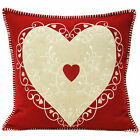 Paoletti Nordica Heart Scandinavian 45cm Square Cushion Cover Filled Cushion