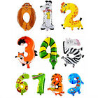 """1 X Kids Toys Balloon Animals Number Foil Balloons Wedding Decorations 16"""" C317"""