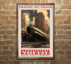 Pennsylvania Railroad Travel by Train #5 Poster [6 sizes, matte+glossy avail]