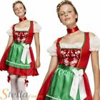 Ladies Fever Oktoberfest Costume Dirndl Bavarian Beer Maid Fancy Dress Costume