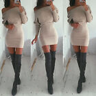 Sexy Women Off Shoulder Bodycon Bandage Party Evening Cocktail Slim Pencil Dress