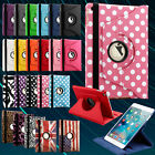 For New Apple iPad Mini 4 2015 360 Rotating Folio Leather Smart Stand Case Cover