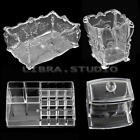 New Clear Makeup Case Cosmetic Organizer Jewelry Storage Box Acrylic Holder