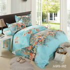 Floral Quilt/Doona Cover Set New Cotton Queen/King Size Bed Linen Fitted Sheets