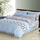 Dots New Cotton Quilt/Duvet/Doona Cover Set Single Queen King Bed Fitted Sheets