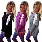 Women's Lady Loose Long Sleeve Sequin Casual Blouse Shirt Tops Fashion Blouse