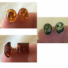 BALTIC HONEY OVAL SQUARE or ROUND AMBER & STERLING SILVER STUD HANDMADE EARRINGS
