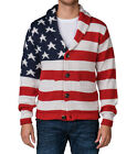 AMERICAN STITCH AMERICAN FLAG CARDIGAN SWEATER