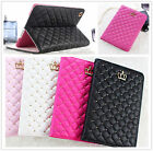 Bling Crown Girly Wallet Slim Flip Leather cover Case for iPad mini 1 2 3 4 Air