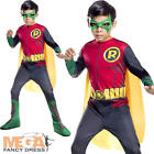 Robin Boys Fancy Dress Batman DC Superhero Comic Book Week Kids Childs Costume