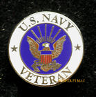 US NAVY VETERAN HAT PIN UP GIFT LOGO CREST SEAL TOPGUN USN XL USS USN VET WOW