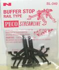 Peco SL-340. Rail Built Buffer Stop x 2. (N Gauge) (Model Railways)
