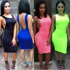 2015 Summer Sexy Women Evening Party Backless Side Zipper Bandage Bodycon Dress