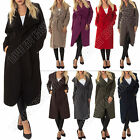 New Womens Italian Kim Kardashian Coat Winter Long Jacket Cardigan Size S M L XL