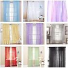 100*200cm Romantic Solid Color Voile Door Window Curtains for Living Room LC7K