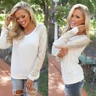 Women's Casual Sequin Long Sleeve Loose Pullover Blouse T Shirt Tops Sweatshirt