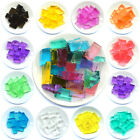 Cube Shaped Crystal Soil Water Beads Wedding Decoration Vase Table Centre Piece