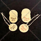 round thank you hang tag + string label wedding party favor gift price card note