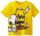 % Peanuts Charlie Brown Headless with Snoopy Toddler Boys T-Shirt - Yellow