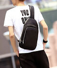 New Men PU Leather Messenger Shoulder Cross Body Sling Chest Back  Casual Bag