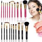 10pc Pro Make Up Tool Brush Kit Foundaton Eyeshadow Mascara Lip Brushes Eyebrow