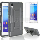 HEAVY DUTY TOUGH SHOCKPROOF WITH STAND HARD CASE COVER FOR SONY XPERIA PHONES