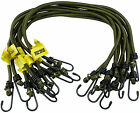 """30 x Elasticated Bungees Cords Bungee Military Army Basha Straps 30"""" 18"""" 12"""" 8mm"""