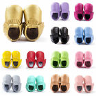Newborn Baby Boy Girl Toddler Soft Sole Infant Tassel Moccasins Shoes 0-18Month