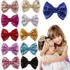 1X Sequins Bow Hair Clips Kids Barrette for Costume Party Hair Accessories Cute