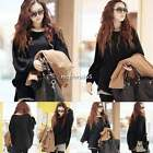 Womens Top Poncho Knit Cape Batwing Sleeve Coat Knitwear Sweater Jumper Pullover