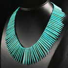 20-50mm Turquoise Beads Steel Pin Necklace L6525