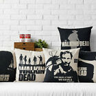 """The Walking Dead Movie Poster Pillow Case Decor Cushion Cover Square Linen 17"""""""