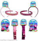 PEPPA PIG HAIR ACCESSORY SETS CLIPS ALICE BANDS HAIR BAND WITH BOW GIRLS GIFT