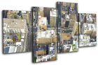 New York Aerial City MULTI CANVAS WALL ART Picture Print
