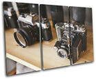 Camera vintage Old Hobbies TREBLE CANVAS WALL ART Picture Print