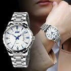Luxury #B Waterproof Stainless Steel Band Men's Luminous Quartz Analog Watch New