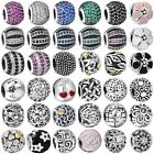 Crystal Round European Charms Beads Fit Sterling 925 Silver Bracelet Chain