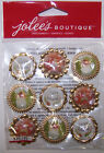 U CHOOSE  Jolee's HOLIDAY ICONS  SNOWFLAKES BAUBLE 3D Stickers Christmas
