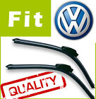 2 x Front Windscreen Wiper Blades Specific Fit FLAT BEAM for VW