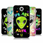 HEAD CASE DESIGNS ALIEN EMOJI HARD BACK CASE FOR HTC PHONES 3