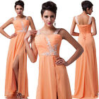 Long Beaded Wedding Guest Dress Bridesmaids Graduation Evening Party Prom Gown