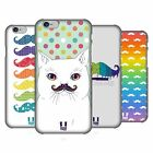 HEAD CASE DESIGNS RAINBOW MOUSTACHE HARD BACK CASE FOR APPLE iPHONE PHONES