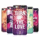 HEAD CASE DESIGNS EDM LOVE HARD BACK CASE FOR APPLE iPOD TOUCH MP3