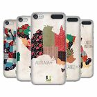 HEAD CASE DESIGNS PATTERNED MAPS HARD BACK CASE FOR APPLE iPOD TOUCH MP3