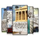 HEAD CASE DESIGNS DOODLE TRIPS HARD BACK CASE FOR SONY PHONES 4