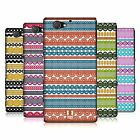 HEAD CASE DESIGNS STRIPES OF LACES HARD BACK CASE FOR SONY PHONES 4