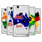 HEAD CASE DESIGNS GEOMETRIC MAPS HARD BACK CASE FOR SONY PHONES 3