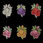 2.5'' Rose Flower Bud Pin Brooch Multi Austrian Crystal Wholesale High Quality