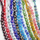 50pcs 8mm Glass Crystal Charms Millefiori Findings Lampwork Loose Spacer Beads