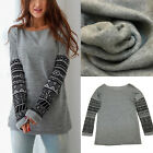 Women Fashion Warm Long Sleeve Knitwear Jumper Long Sleeve Sweater Tops Thicken